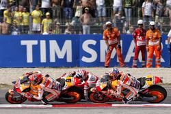 Марк Маркес, Repsol Honda Team, Андреа Довіціозо, Ducati Team, Дані Педроса, Repsol Honda Team