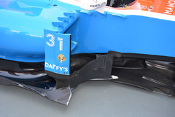 Manor Racing MRT05 sidepods detalle