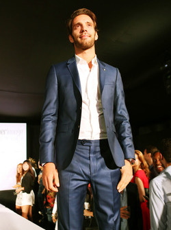 Jean-Eric Vergne, Ferrari Test and Development Driver at the Amber Lounge Fashion Show.
