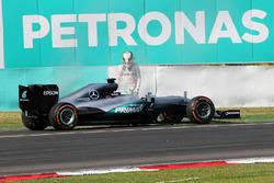 Lewis Hamilton, Mercedes AMG F1, W07 Hybrid, Motorschaden
