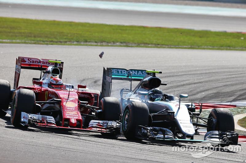 Rosberg überrumpelt Kimi Räikkönen und kassiert 10 Sekunden Strafe