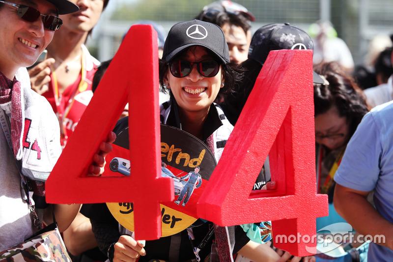 Un fan de Lewis Hamilton, Mercedes AMG F1
