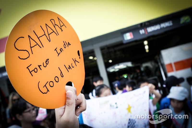 Уболівальники Sahara Force India F1 Team