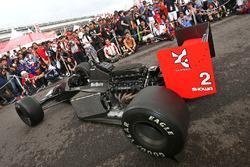 A McLaren Honda car on display