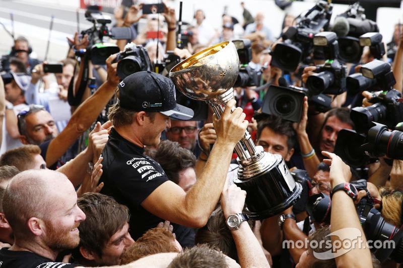 Nico Rosberg, Mercedes AMG F1 celebra el campeonato de constructores 2016