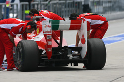 Fernando Alonso, Scuderia Ferrari rear wing and difffuser