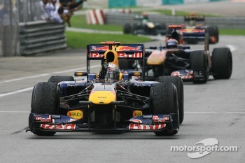 Sebastian Vettel, winner of the Malaysian GP