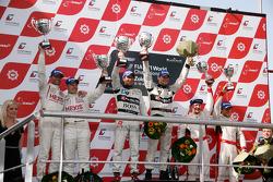 Winner #38 Marc Basseng, Markus Winkelhock; Lamborghini Murcielago 670 R-SV; All-Inkl.com Munnich Motorsport; second place #4 Andres Riccini, Christian Hohenadel; Aston Martin DB9; Hexis AMR; third place #7 Tomas Enge, Alex Muller; Aston Martin DB9; Young