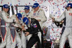 PC podium: champagne celebrations