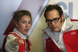 Rahel Frey, Audi Sport Team Phoenix, Audi A4 DTM with her engineer
