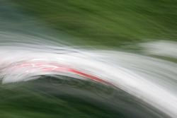 Artistic impression of a Champ Car at speed in the trees at Circuit Gilles-Villeneuve