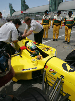 Champ Car 2-seater experience: Alex Tagliani takes a guest around the track