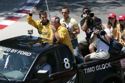 Drivers parade: Timo Glock