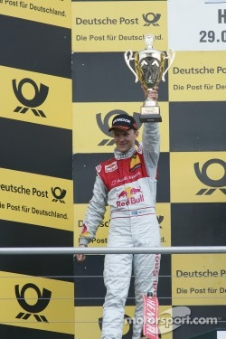 Podium: second place Mattias Ekstrom, Audi Sport Team Abt, Audi A4 DTM
