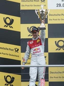 Podium: second place Mattias Ekstrom, Audi Sport Team Abt, Audi A4 DTM