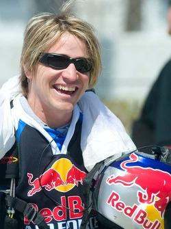 Red Bull skydiver