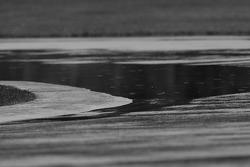 Puddle of water at Senna hairpin