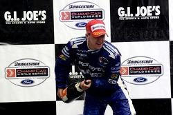 Victory podium: A.J. Allmendinger