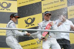 Race winner Bruno Spengler, Team HWA AMG Mercedes, third place Ralf Schumacher, Team HWA AMG Mercedes