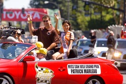 San Jose Sharks star Patrick Marleau with Miss San Jose Grand Prix
