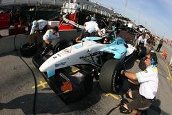 Pitstop practice at Newman/Haas/Lanigan Racing