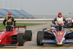 Girl power at Chicagoland: pole winner for the Infiniti Pro Series race Sarah McCune and pole winner for the IndyCar Series race Danica Patrick