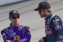 Matt Kenseth, Roush Fenway Racing Ford and Brian Vickers, Red Bull Racing Team Toyota