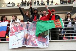 A banner in the crowd for Felipe Massa, Scuderia Ferrari
