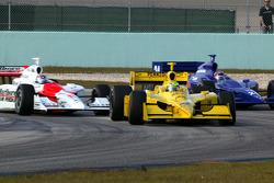 Tomas Scheckter, Sam Hornish Jr. and Roger Yasukawa