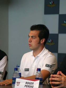 Marlboro Team Penske press conference: Sam Hornish Jr.