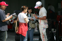 A.J. Foyt IV with fans
