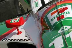 Tony Kanaan's car in the paddock