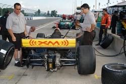 Bryan Herta has his car readied