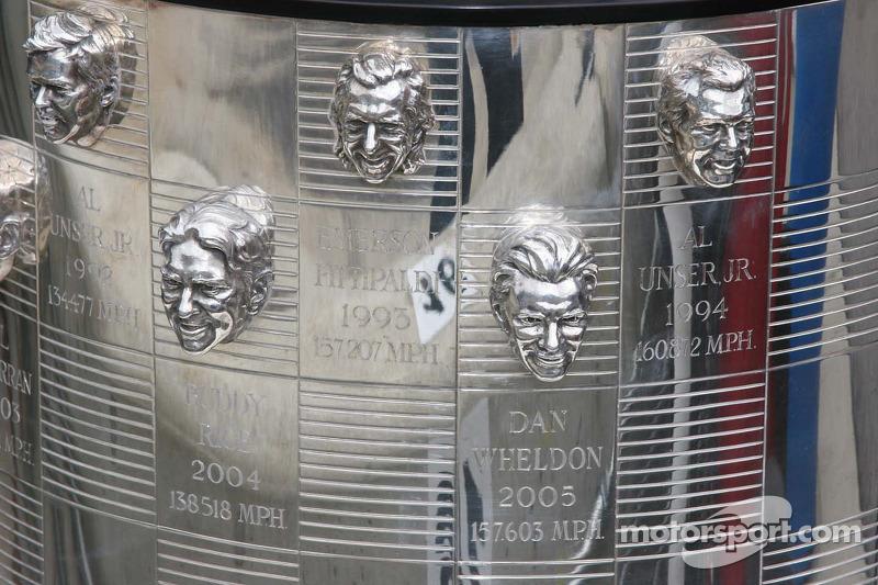 Les photos des anciens vainqueurs sur le trophée Borg Warner