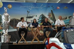 From left: Rahal Letterman Racing drivers Jeff Simmons, Danica Patrick and Buddy Rice, and team co-owner Bobby Rahal