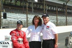 Sam Hornish Jr. with Mr. and Mrs Roger Penske