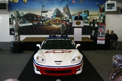 The 2006 Chevrolet Corvette Z06 that will pace the 90th Indianapolis 500