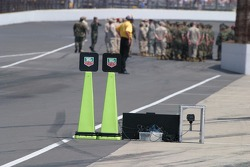 Pit road speed indicators
