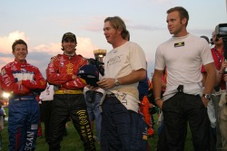 Drivers congregate before the race