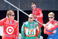 Scott Dixon, Tony Kanaan, Dan Wheldon and Marco Andretti