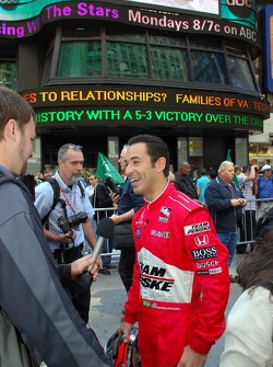 2007 Indianapolis 500 pole winner Helio Castroneves enjoys his time