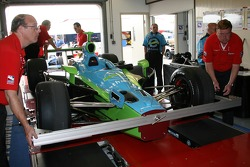 Car of Jeff Simmons at tech inspection