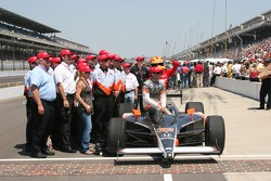 A.J. Foyt IV with crew