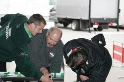 Andretti Green Racing car of Tony Kanaan at tech inspection