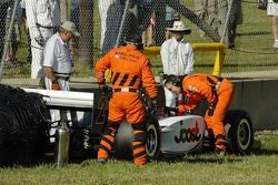 Tomas Scheckter gets assistance