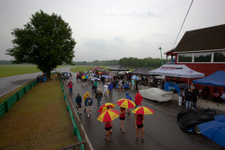 A wet starting grid