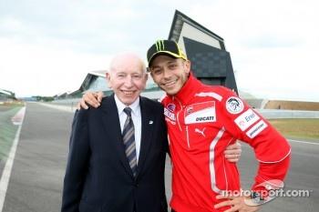 John Surtees and Valentino Rossi