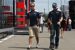 Rubens Barrichello, Williams F1 Team and Pastor Maldonado, Williams F1 Team