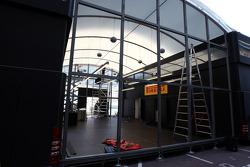 Pirelli motorhome gets setup