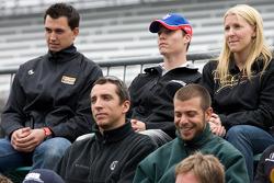 Graham Rahal, Service Central Chip Ganassi Racing, Alex Lloyd, Dale Coyne Racing, Pippa Mann, Conquest Racing, Justin Wilson, Dreyer & Reinbold Racing and EJ Viso, KV Racing Technology-Lotus